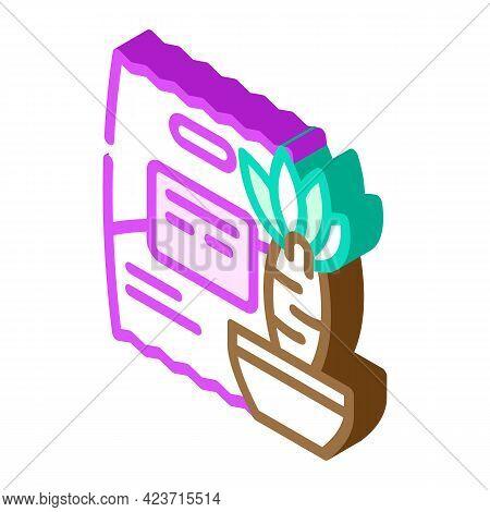Yucca Food Gluten Free Isometric Icon Vector. Yucca Food Gluten Free Sign. Isolated Symbol Illustrat