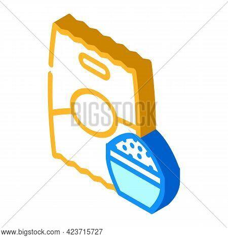 Rice Food Gluten Free Isometric Icon Vector. Rice Food Gluten Free Sign. Isolated Symbol Illustratio