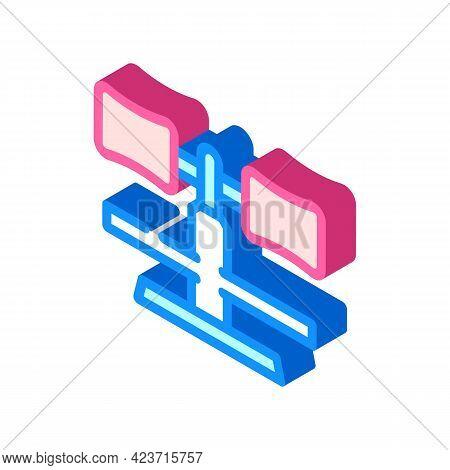 Leg Support Gym Equipment Isometric Icon Vector. Leg Support Gym Equipment Sign. Isolated Symbol Ill