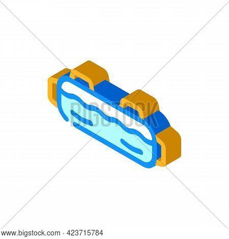 Aqua Bag Gym Equipment Isometric Icon Vector. Aqua Bag Gym Equipment Sign. Isolated Symbol Illustrat