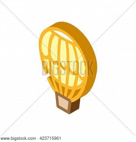Hydrogen Weather Balloon Isometric Icon Vector. Hydrogen Weather Balloon Sign. Isolated Symbol Illus