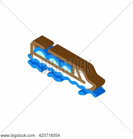 Gas Hydrogen Carrier Ship Isometric Icon Vector. Gas Hydrogen Carrier Ship Sign. Isolated Symbol Ill