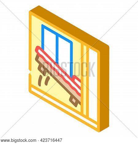 Wardrobe Bed Isometric Icon Vector. Wardrobe Bed Sign. Isolated Symbol Illustration