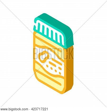 Jar With Peanut Butter Isometric Icon Vector. Jar With Peanut Butter Sign. Isolated Symbol Illustrat