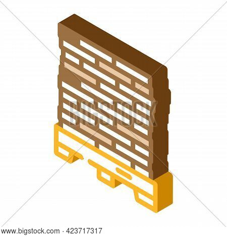 Pallet Peat Isometric Icon Vector. Pallet Peat Sign. Isolated Symbol Illustration