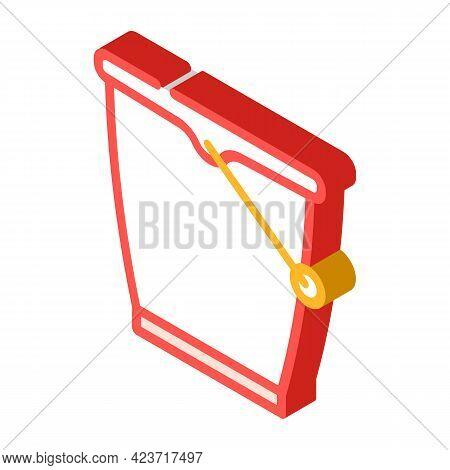 Bucket Plastic Isometric Icon Vector. Bucket Plastic Sign. Isolated Symbol Illustration