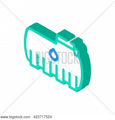 Tank Plastic Detail Isometric Icon Vector. Tank Plastic Detail Sign. Isolated Symbol Illustration