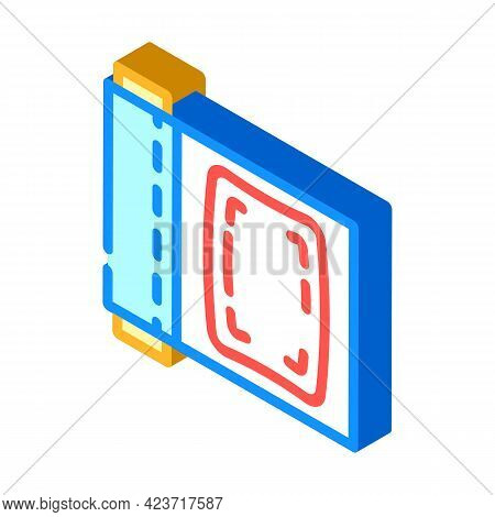 Cling Film Plastic Isometric Icon Vector. Cling Film Plastic Sign. Isolated Symbol Illustration