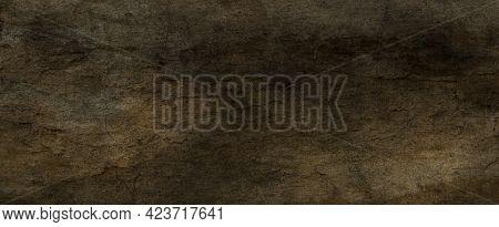Gray Background Texture In Old Vintage Paper Design With Black Border, Old Antique Metal Background