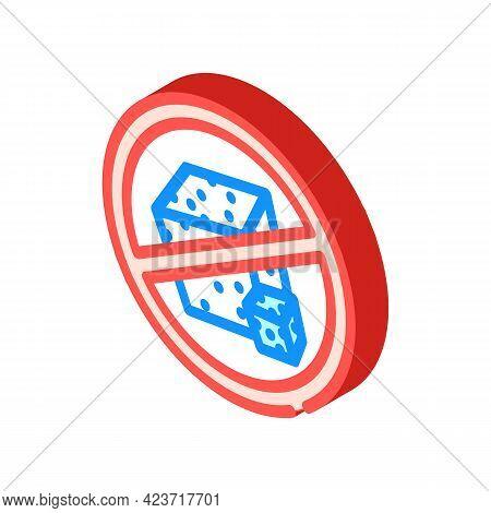 Sugar Free Canteen Mark Isometric Icon Vector. Sugar Free Canteen Mark Sign. Isolated Symbol Illustr