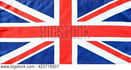Close-up of Union Jack flag