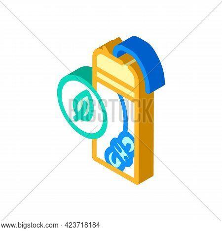 Dental Floss Zero Waste Isometric Icon Vector. Dental Floss Zero Waste Sign. Isolated Symbol Illustr