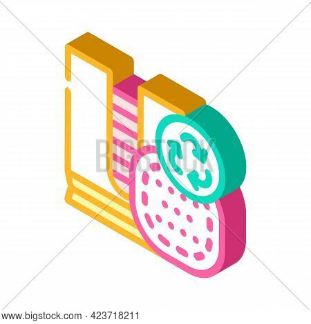 Reusable Make-up Removal Pads Isometric Icon Vector. Reusable Make-up Removal Pads Sign. Isolated Sy