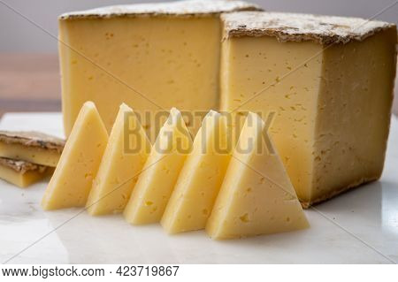 Cheese Collection, Tomme De Savoie Cheese From Savoy Region In French Alps,  Mild Cow's Milk Cheese