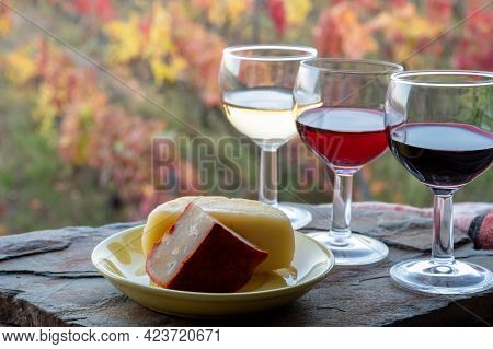 Taste Of Portugal, Fortified Port Wines And Goat And Sheep Cheeses Produced In Douro Valley With Col