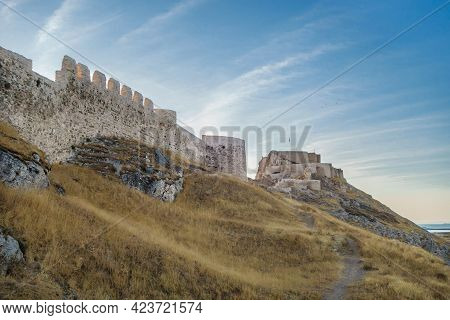 Walls, Towers And Citadel Of Van Fortress, Van, Turkey. Founded In 9 Century Bc By Urartians
