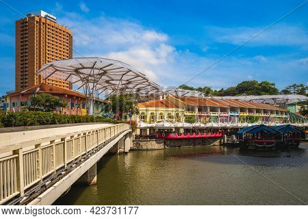 Clarke Quay Located At Singapore River Planning Area In Singapore