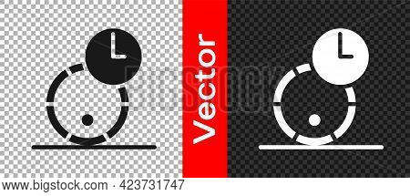 Black Wooden Barrel For Wine Icon Isolated On Transparent Background. Aging Of Wine In A Barrel. Vec