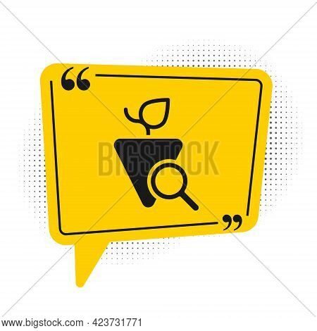 Black Grapes Icon Isolated On White Background. Selection Of Grapes. Yellow Speech Bubble Symbol. Ve