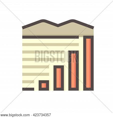 Land Values Vector Icon. Consist Of Area, Growth Graph Or Value Investing. For Land Investment Conce