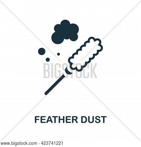 Feather Dust Icon. Monochrome Simple Element From Housekeeping Collection. Creative Feather Dust Ico