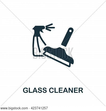 Glass Cleaner Icon. Monochrome Simple Element From Housekeeping Collection. Creative Glass Cleaner I