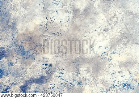 Blue Texture Pattern With Veins Is Similar To The Planet View From Above Useful As Background Or Tex