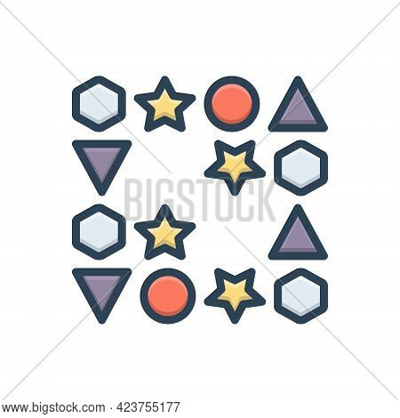 Color Illustration Icon For Gaps Interval Space Different Dissimilar Unalike Unlike Contrasting Cont