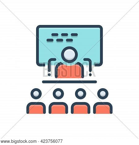 Color Illustration Icon For Explained Decode Exhort Decipher People