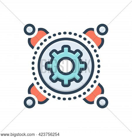 Color Illustration Icon For Enablement Competence Efficiency Carrying Capacity Competency