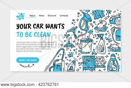 Landing Page Or Flyer For The Car Wash And Auto Detaling
