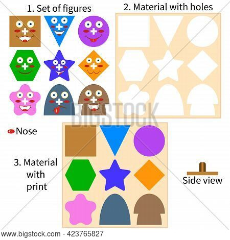 Wooden Toys Puzzles. The Layout Of Children's Developmental Game For Toddlers And Preschool Children
