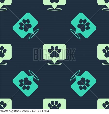 Green And Beige Map Pointer With Veterinary Medicine Hospital, Clinic Or Pet Shop For Animals Icon I