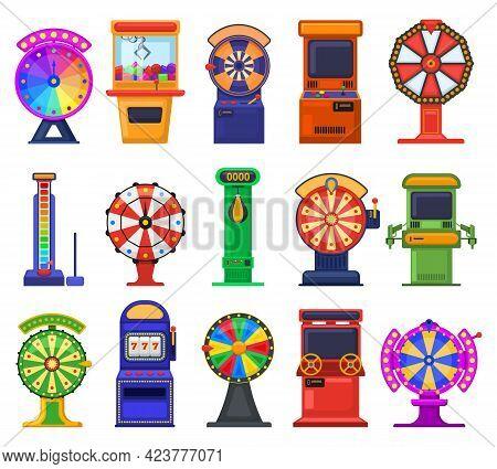 Gambling Slot Machines. Arcade Video Games, Casino Gambling Slot Machines And Coin Entertainment Dev