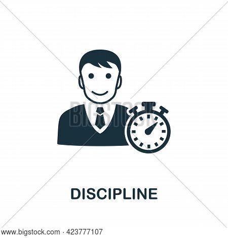 Discipline Icon. Simple Creative Element. Filled Monochrome Discipline Icon For Templates, Infograph
