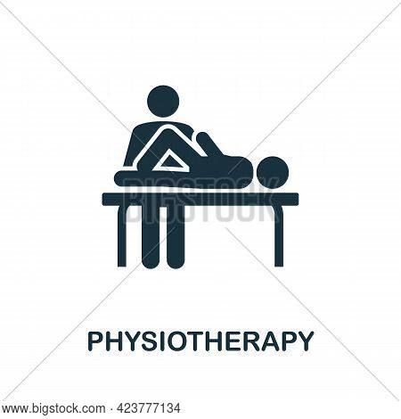 Physiotherapy Icon. Simple Creative Element. Filled Monochrome Physiotherapy Icon For Templates, Inf