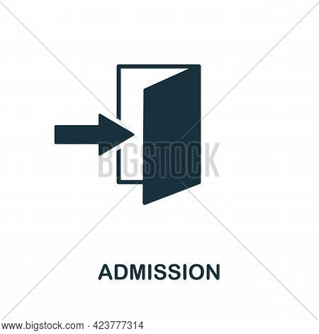 Admission Icon. Simple Creative Element. Filled Monochrome Admission Icon For Templates, Infographic