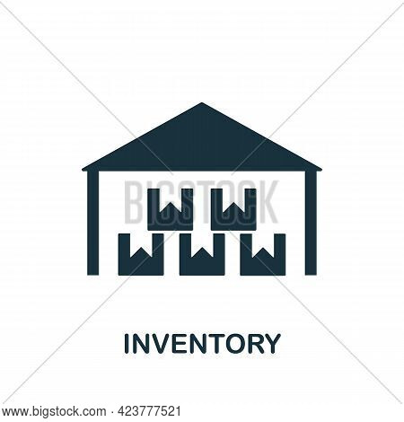 Inventory Icon. Simple Creative Element. Filled Monochrome Inventory Icon For Templates, Infographic