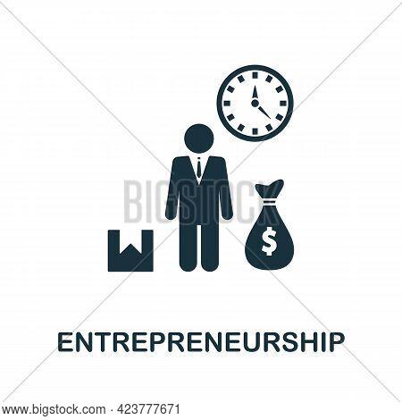 Entrepreneurship Icon. Simple Creative Element. Filled Monochrome Entrepreneurship Icon For Template