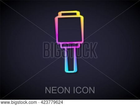 Glowing Neon Line Rkg 3 Anti-tank Hand Grenade Icon Isolated On Black Background. Vector