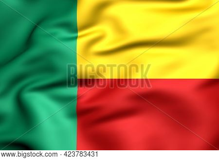 3d Flag Of The Benin. 3d Illustration.