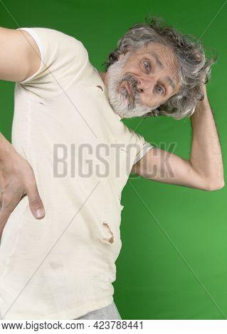 Caucasian  Mature Man Got Stuck In Serious Problems