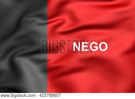 3d Flag Of Paraiba State, Brazil. 3d Illustration.