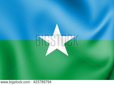 3d Flag Of Pitimbu (paraiba), Brazil. 3d Illustration.
