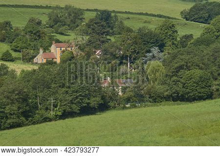 Summer In The Woolley Valley, An Area Of Outstanding Natural Beauty In The Cotswolds On The Outskirt