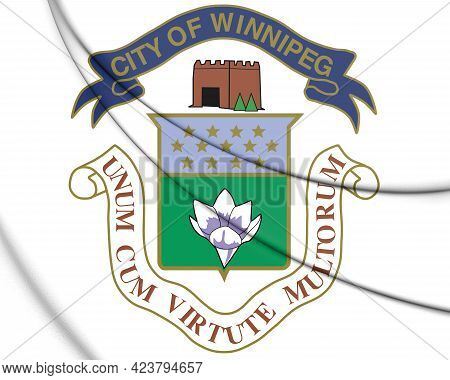3d Winnipeg Coat Of Arms, Canada. 3d Illustration.