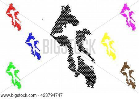 Island County, State Of Washington (u.s. County, United States Of America, Usa, U.s., Us) Map Vector