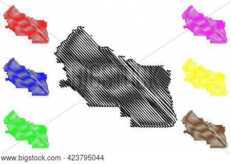 Kittitas County, State Of Washington (u.s. County, United States Of America, Usa, U.s., Us) Map Vect