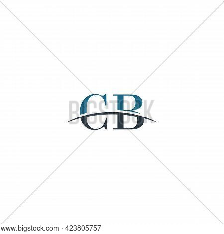 Initial Letter Cb, Overlapping Movement Swoosh Horizon Logo Company Design Inspiration In Blue And G