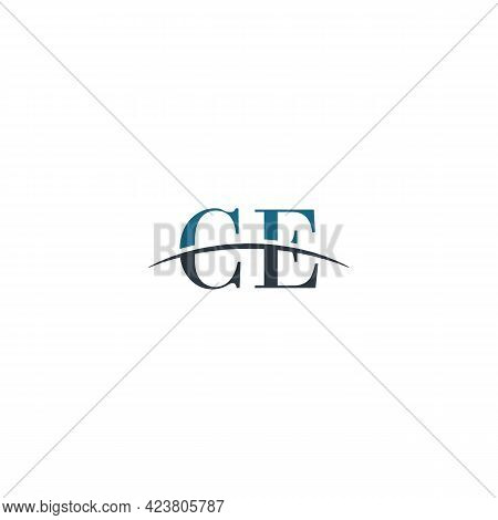 Initial Letter Ce, Overlapping Movement Swoosh Horizon Logo Company Design Inspiration In Blue And G